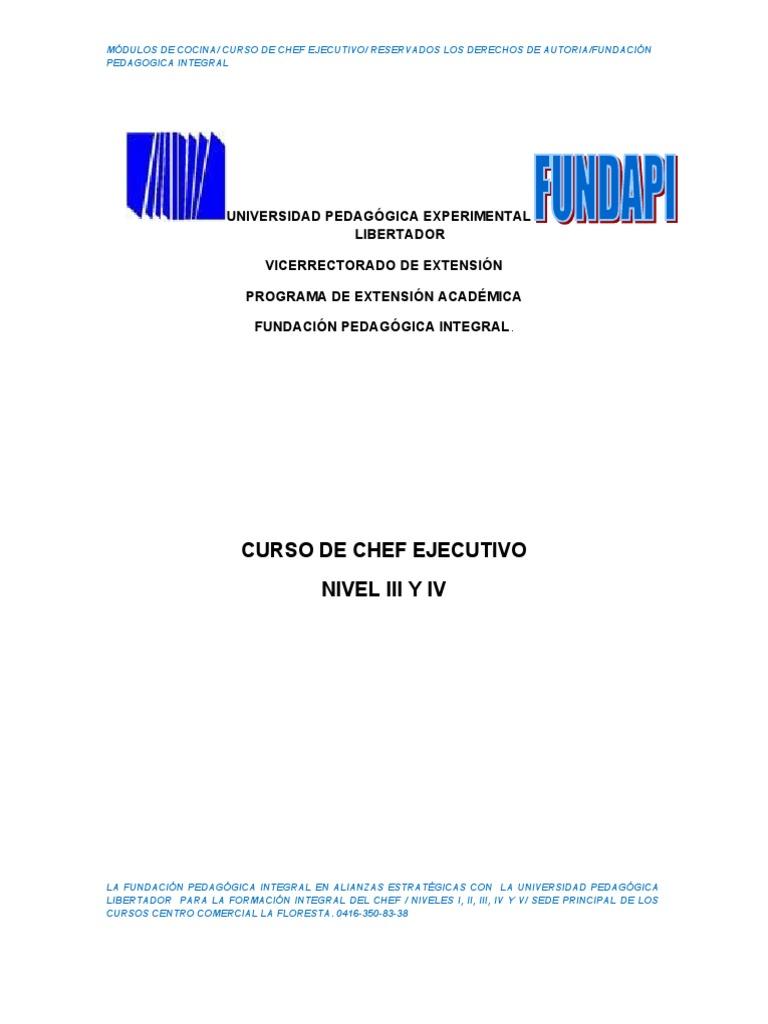 Modulo Del Curso de Chef III y IV Corregido (2) 324299db14c0