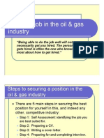 Getting a Job in the Oil & Gas Industry
