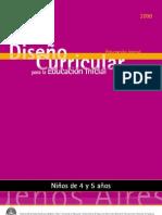 diseño curricular argentino  4 y 5 años
