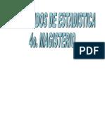 Contenidos de Estadistica 4o. Mag