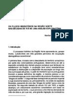 OS FLUXOS MIGRATÓRIOS NA REGIÃO NORTE NAS DECADAS DE 70 E 80