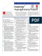 Checklist for People With Mobility Problems