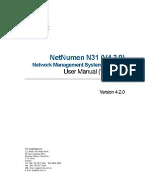 ZTE-Netnumen N31 User Manual Vol 1   Oracle Database   Server