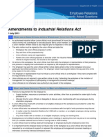 IR Act Amendments FAQ