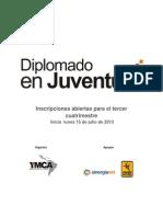 Diplomado en Juventud Tercer Cuatrimestre.convocatoria 2013