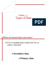 Chapter 7 - Types of Data