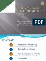 Métodos de Variación de Velocidad  de Motor DC