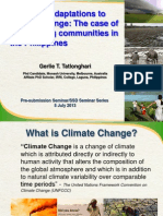 Gendered adaptations to climate change