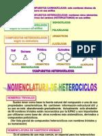 NOMENCLATURA HETEROCICLOS