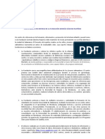 Carta Abierta en Defensa de La FGSR Salamanca