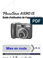 Mode Emploi Canon PowerShotA590IS