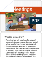 Business- Group Meetings