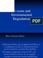 E--Waste and Environmental Degradation