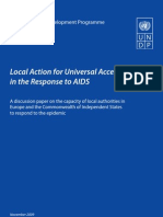 Local action for universal access in the response to AIDS