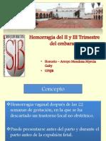 Hemorragia Del II y III Trimestre Del Embarazo