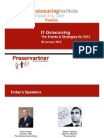 IT Outsourcing - The Trends Strategies for 2012