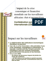 Impact de La Crise Economique Et Financiere Mondiale