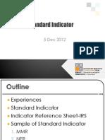 Standard Indicator