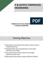 Design Input Output Process Engineering PT Krakatau Engineering