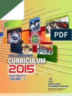 2015 Volume-1 Secondary School Curriculum