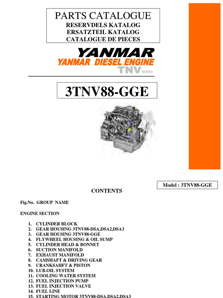 Yanmar 3TNV88 on