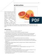 Grapefruit Drug Interactions
