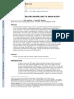 Antioxidant Therapies for Traumatic Brain Injury