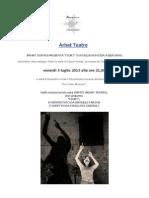 "Árhat Teatro con ""Fiori"" in Piazza Pontida a Bergamo"