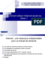 Comment utiliser l'internet durant sa thèse