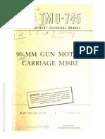 TM 9-745 90MM MOTOR GUN CARRIAGE M36B2