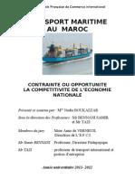 Nadia Boukazzar le mémoire de fin d'étude sur le transport maritime au maroc bOUKAZAR