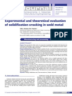 Solidification Cracking Ss