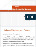 Origin of the Industrial System