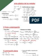 Fórmulas para laminación