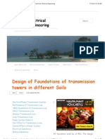 Design of Foundations of Transmission Towers in Different Soils | ElectricalEngineering