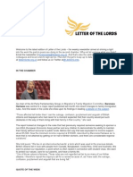 Letter of the Lords - July 5, 2013