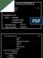Obat Anestesia Umum