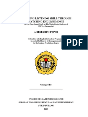 thesis proposal of english education doc