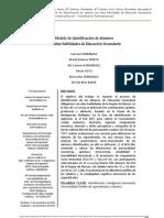 AC. Modelo de Identificacion Alumnos Aacc en ESO Ferrandi Prieto y Cols
