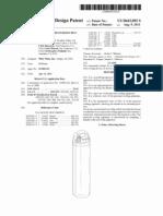 Durable portable pressurized mist cooling device (US patent D643092)