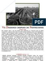 VII DOMINGO DESPUES DE PENTECOSTÉS. Folleto PDf bilingüe