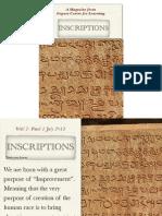 Inscriptions 2