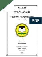 Ittiba' Dan Taqlid