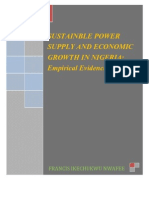 Sustainable Power Supply and Economic Growth in Nigeria_ Empirical Evidience