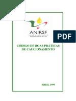 ANIRSF - Manual de Boas Práticas de Caucionamento
