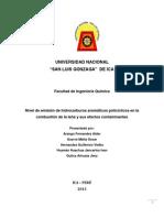 Proyecto de Tesis Hidrocarburos Aromaticos