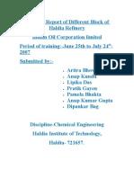 17275653 Training Report of Different Block of Haldia Refinery