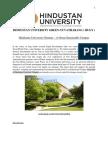 Hindustan University Green Sustainable Campus