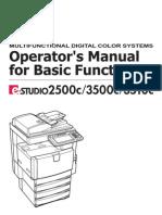 Toshiba E-Studio 2500C Owner Manual