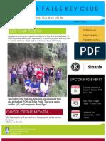 Cypress Falls Key Club June 2013 Newsletter